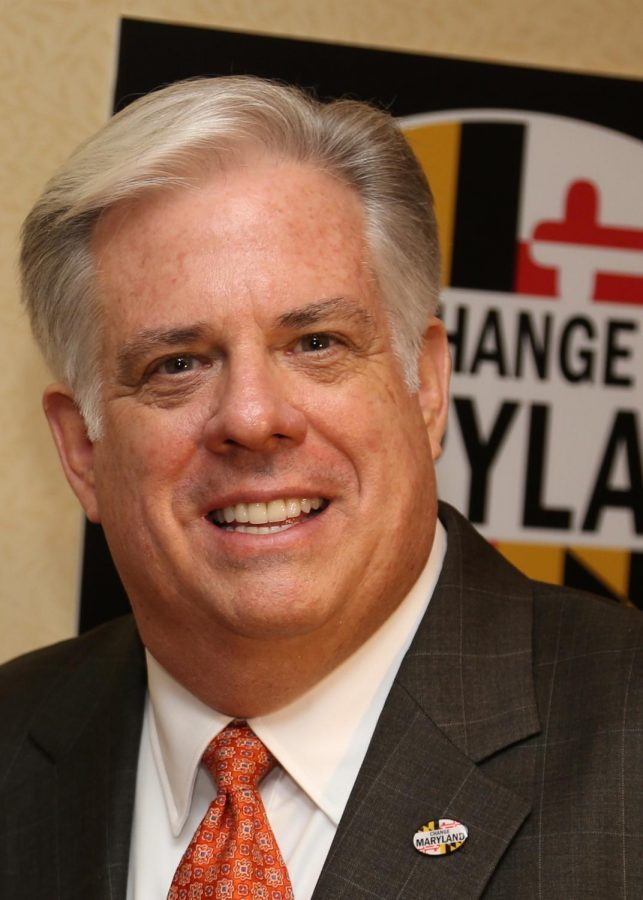 Maryland+governor+Larry+Hogan+is+being+pushed+to+run+for+president+in+2020.+Hogan+recently+won+reelection+in+the+2018+midterms.