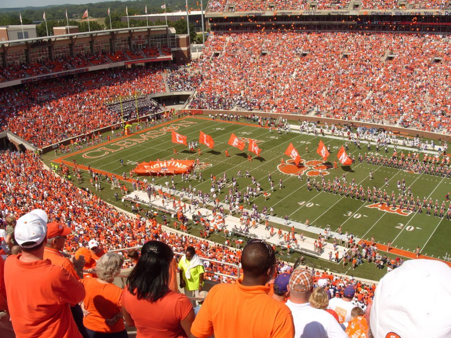 Clemson+fans+gather+for+a+home+game+in+Memorial+Stadium.+With+another+championship+under+their+belt%2C+Tigers+fans+hope+next+season+will+produce+similar+results.