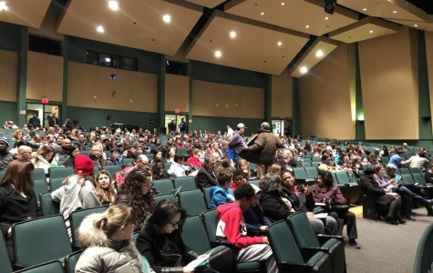 "Parents and students from the WJ community crowd the auditorium to watch the showing of the ""Like"" documentary presented by the WJ PTSA. A Q&A was held after the viewing by counselors and professors that came to the event for parents to ask questions of the panel."
