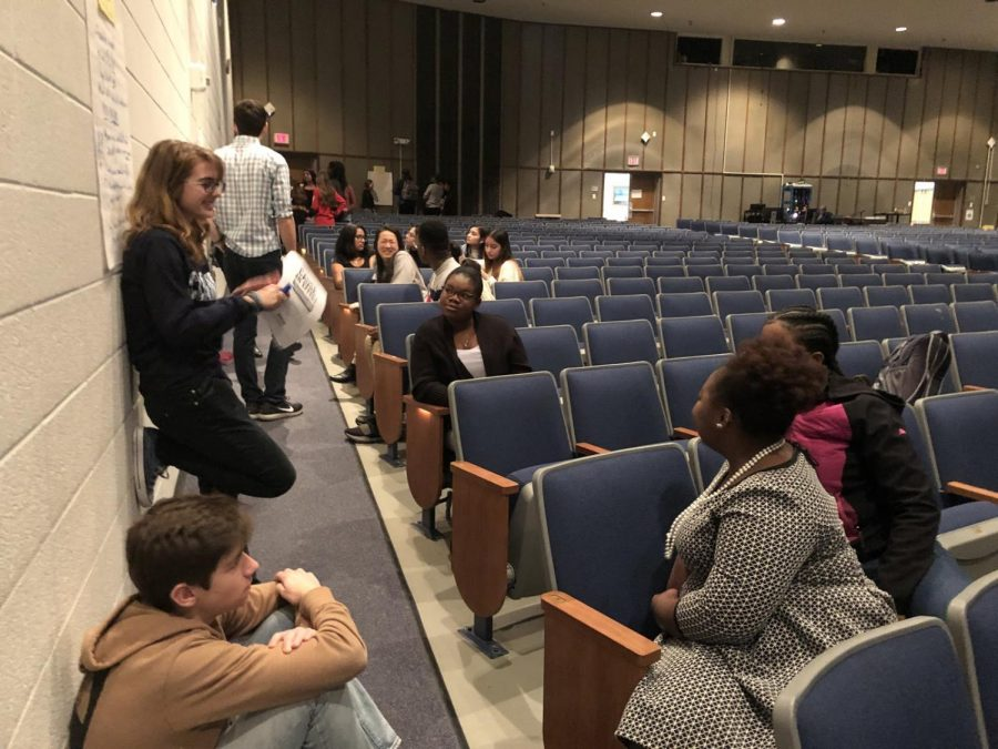 Students+from+across+the+county+meet+together+in+breakout+groups+to+discuss+what+is+important+to+them+in+the+coming+years+for+MCPS.+A+variety+of+topics+were+discussed+such+as+Montgomery+College+classes%2C+final+exams+and+IB+programs.
