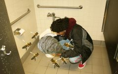 Yoni eats a beehive