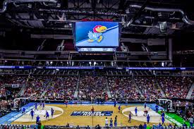 The Kansas Jayhwaks warm up for a game in the 2018 NCAA tournament. March madness is one of the most anticipated times of the year for many sports fans.
