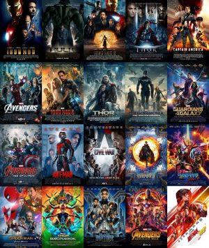 Every Marvel film, minus Captain Marvel and Avengers: Endgame, that has been released within the past decade is pictured. Numbering at 22 films and capping off at Endgame, the Marvel Cinematic Universe is the most lucrative film franchise of all time. Photo courtesy of Flickr.