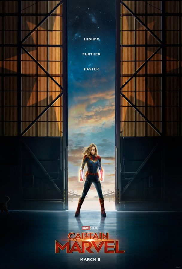 Teaser poster of Brie Larson as Captain Marvel (Carol Danvers). Captain Marvel was released on March 8 and is already the second highest grossing Marvel movie as of now, behind only last year's critically acclaimed Avengers: Infinity War.