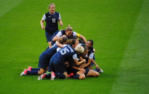 The U.S. Women's Soccer Team has won multiple accolades, including winning the World Cup in 2015 and the gold medal in the 2012 Olympics. Despite their achievements, they still have lower salaries than the U.S. Men's Soccer team, which they are now fighting against with a lawsuit. Photo courtesy of Wikimedia Commons