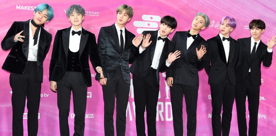BTS at the 2019 Seoul Music Awards.  BTS saw the most success at the award show, winnning the Grand Prize as well as Best Album.