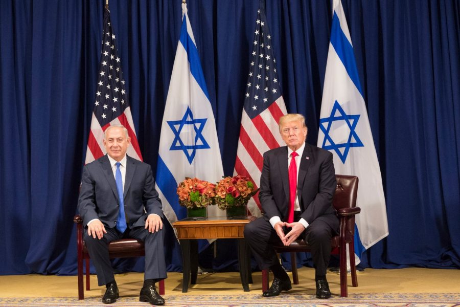 President Trump and Israeli Prime Minister Netanyahu at the United Nations General Assembly. The two are known to have a very close political relationship and personal frienship.