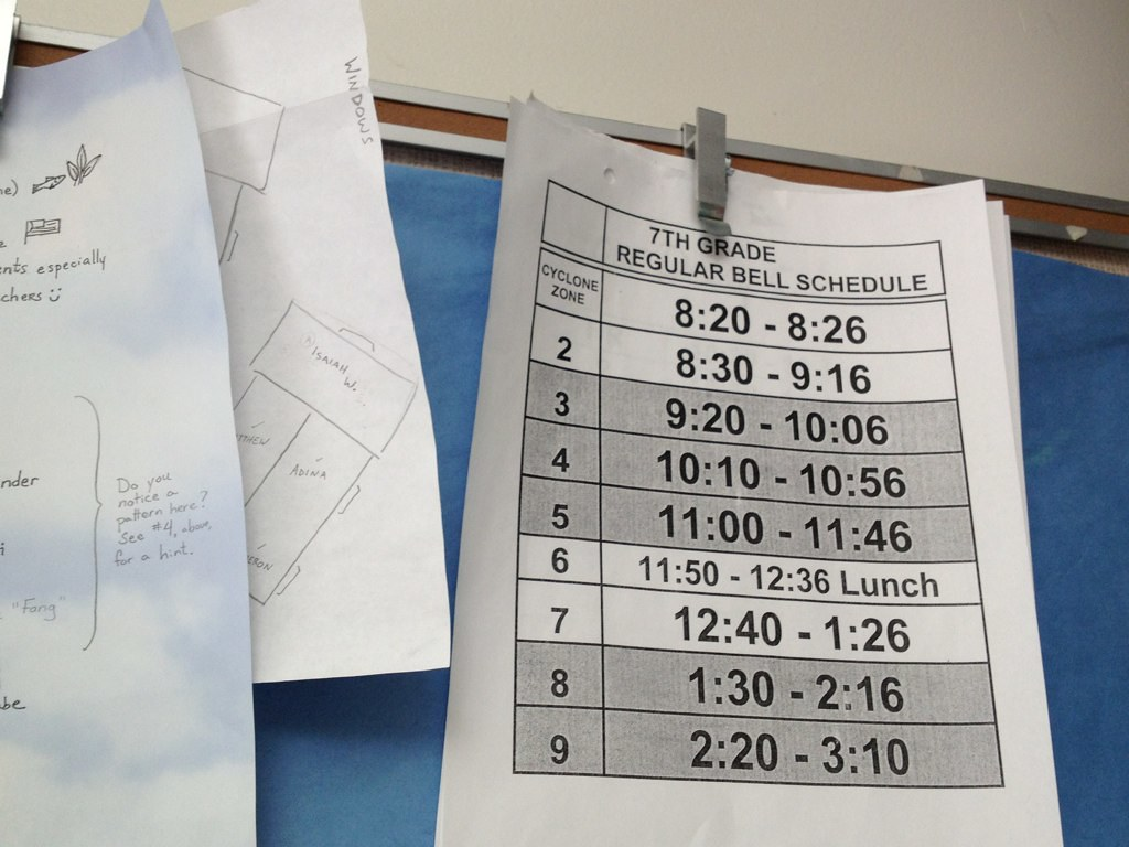 WJ's bell schedule could use change.