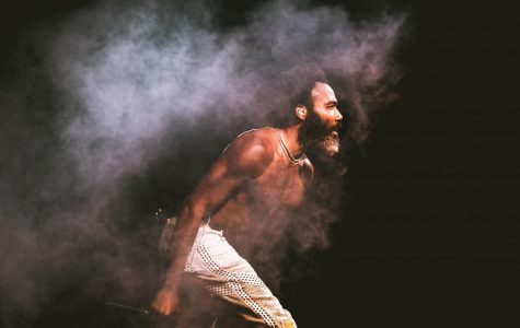 Childish Gambino takes the stage during his headlining performing at Broccoli City. The previous two weekends, Gambino headlined Coachella Music Festival.