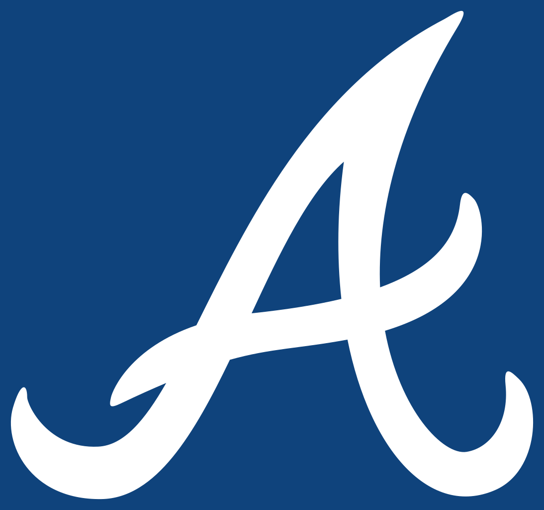 The Atlanta Braves logo. Stewart decided to not play for the Braves and play in Japan instead.