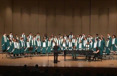 WJ's advanced choir competing in state choir festival. Though they've always maintained healthy numbers, the WJ choir department is bigger this year than ever before.