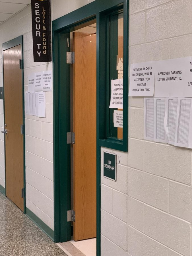 The WJ security team is stationed on the first floor. MCPS has made many changes to the security protocols and more are expected.