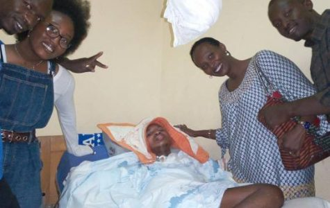 Shiima Nantulya and her mother visit a hospital in Rwanda where they meet a paralyzed boy named Trésor who's story changed Nantulya's life forever.  (Left to right) Rwandan nurse, Shiima Nantulya, Tresor, Carine Kaneza , Fabrice.