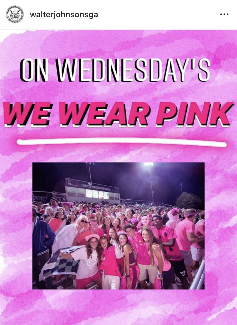 Each Wednesday in October, the SGA promotes pink fashion in honor of breast cancer awareness month. However, the days lack any correlating fundraising or further action.