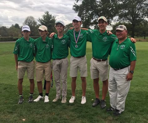 WJ golf is on their way to the state championships! The five-man team placed high enough at districts to qualify for states.