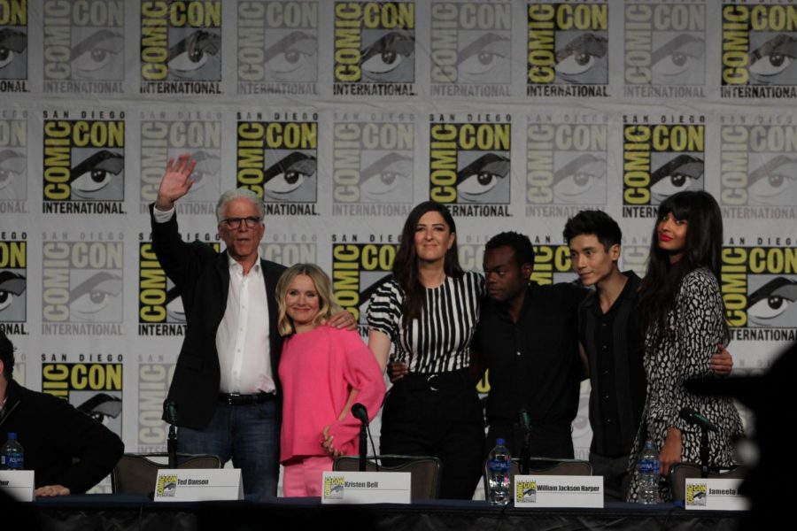 The cast of the Good Place. The show is currently in its fourth and final season.