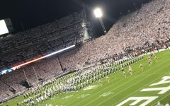 A rowdy Penn State football crowd anxiously waits for the match up against Ohio State in 2018. Electric crowds in college and professional sporting events make up for special experiences.