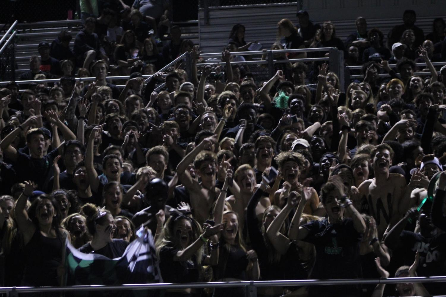 During football games, the seniors and juniors all cram together in the senior section. Seniors have repeatedly told juniors to wait their turn.