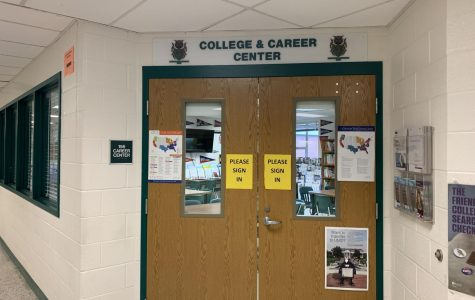 Many students utilize the College and Career Center as a place to gather their documents for college, attend college visits and more.