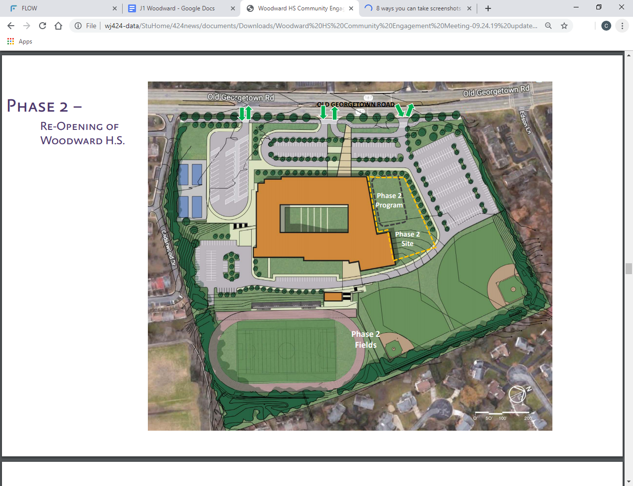 Proposed Phase 2 design of the reopening of Woodward High School. The plan required a reconstruction of Tilden Middle School and the school will not officially open until 2025.