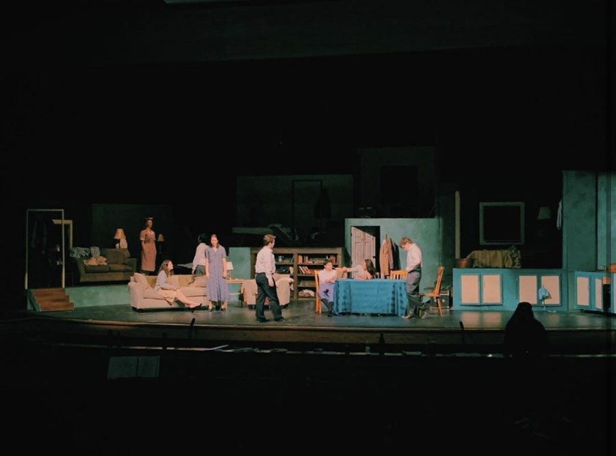 The simplicity of the set design conveys the dreary day to day lives led by Jews during World War two. The bleak setting brings across a feeling of hopelessness similar to that of Anne Frank's story.