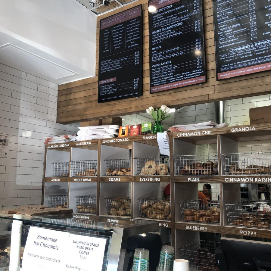 Bethesda+Bagels+offers+a+variety+of+bagel+and+sandwich+options.+The+shop+recently+opened+a+new+location+in+Wildwood+Shopping+Center.