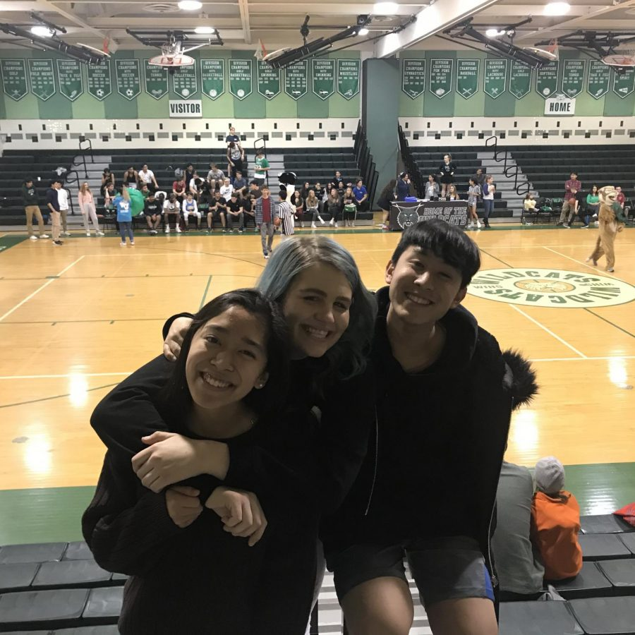 Mackenzie+DeCraeve%2C+Patrick+Ibanez+and+Mary+Ibanez+attended+their+first+student-teacher+basketball+game.+They+all+really+enjoyed+the+game+and+planned+to+come+to+future+WJ+events.