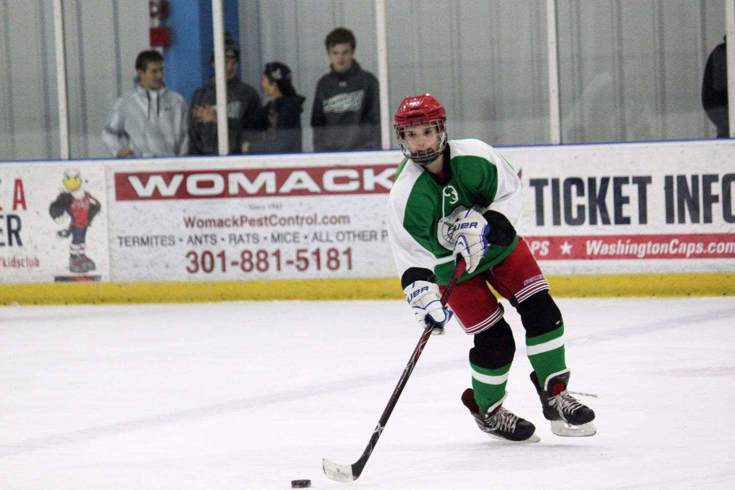 Sophomore Justin Davids has been a key part of the team this year, even as an underclassmen. The future of WJ hockey looks bright.
