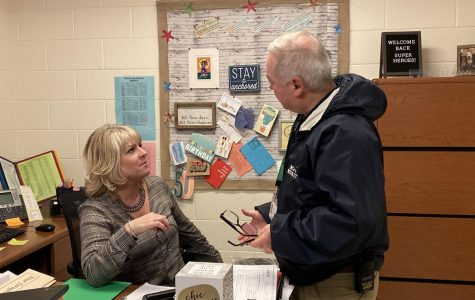 Ninth grade administrator Kimberly Leaman and head of security Pat Rooney discuss student consequences for fighting.