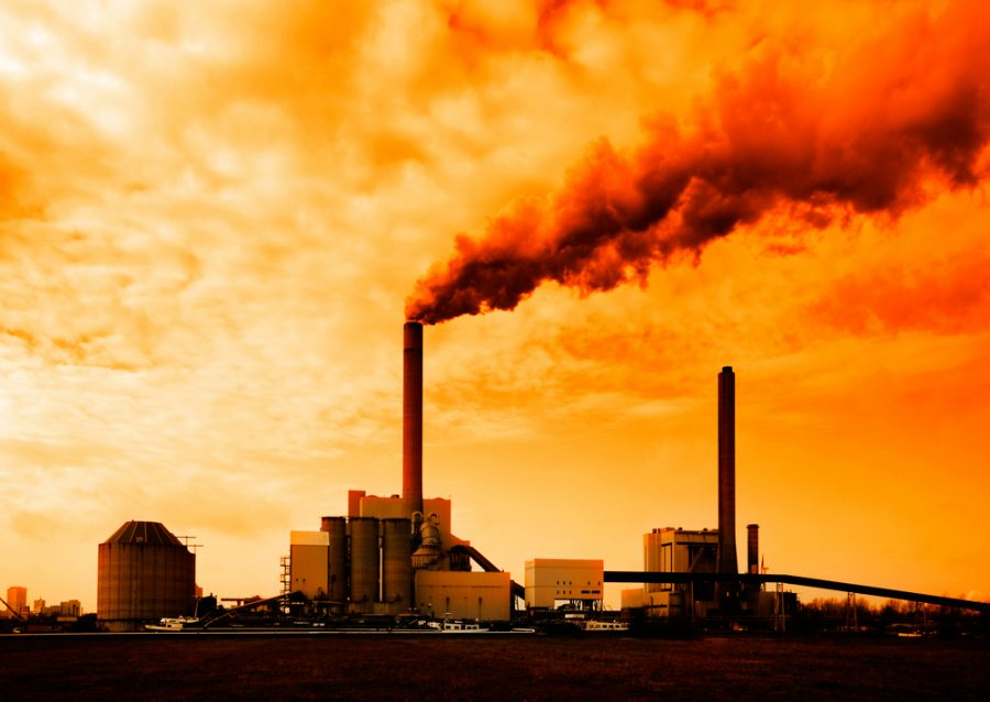 A factory releases dangerous gases into the air. The topic of humans' impact on the environment has been widely debated by people around the globe. Photo courtesy of Journalist's Resource.