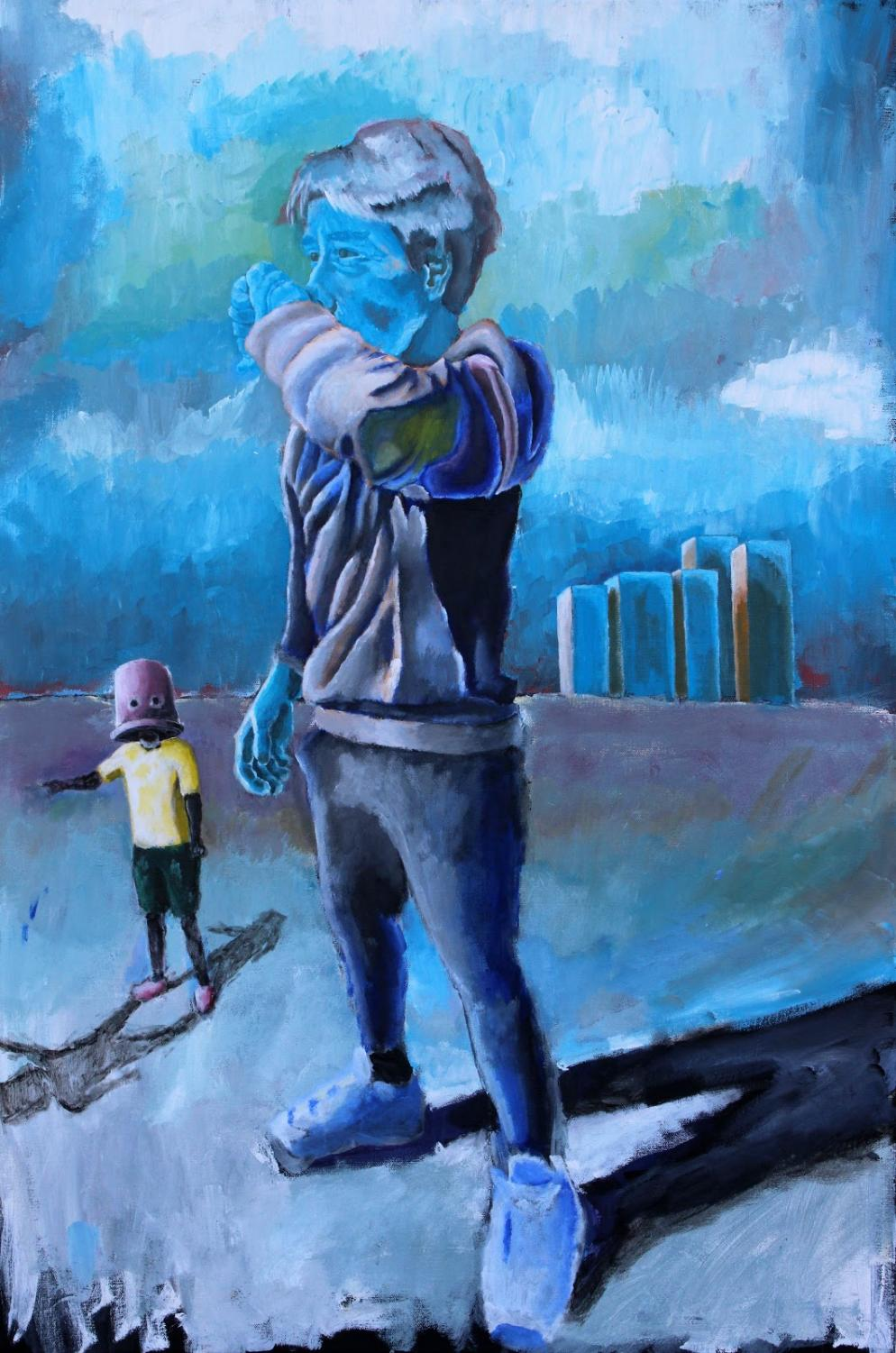 This piece was inspired by the housing crisis in Iran. Those living outside of Tehran have a lack of basic resources.
