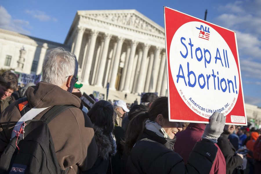 Pro-life+activists+gather+in+front+of+the+Supreme+Court.+Thousands+of+protesters+attend+the+March+For+Life+every+year+which+have+occurred+ever+since+the+Roe+v.+Wade+decision.