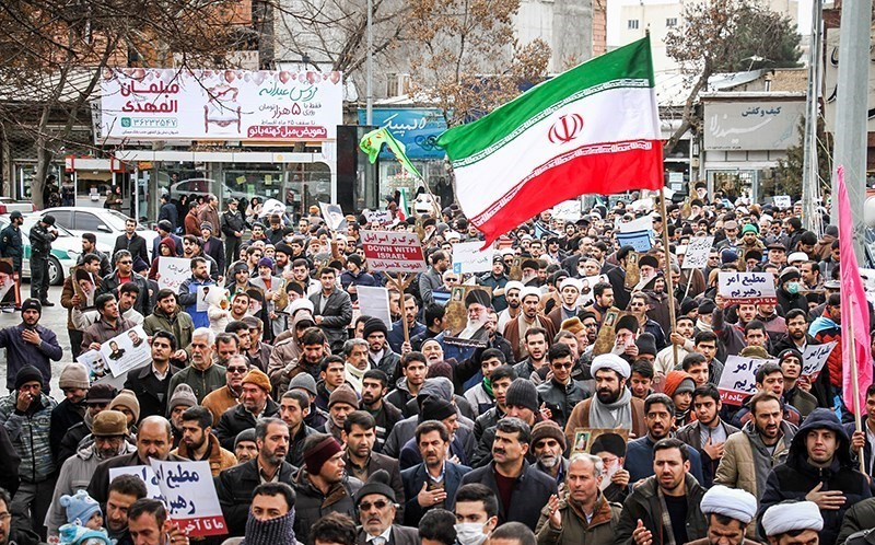 People+in+Iran+are+seen+out+in+the+streets+protesting.+After+Soleimani%27s+killing+most+Iranians+were+actually+happy.