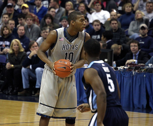 Georgetown's high tier basketball team has always kept them in the headlines and at the top of the college basketball rankings. Along the way they have made many rivalries with other competitive teams, such as Villanova, which is pictured above.