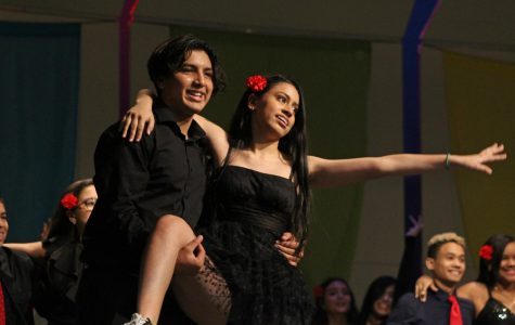 Charly Rodriguez and Natalia Fontalvo dance the salsa dance during the Hispanic and Latin Culture Assembly. The Salsa dance originates from Cuba.