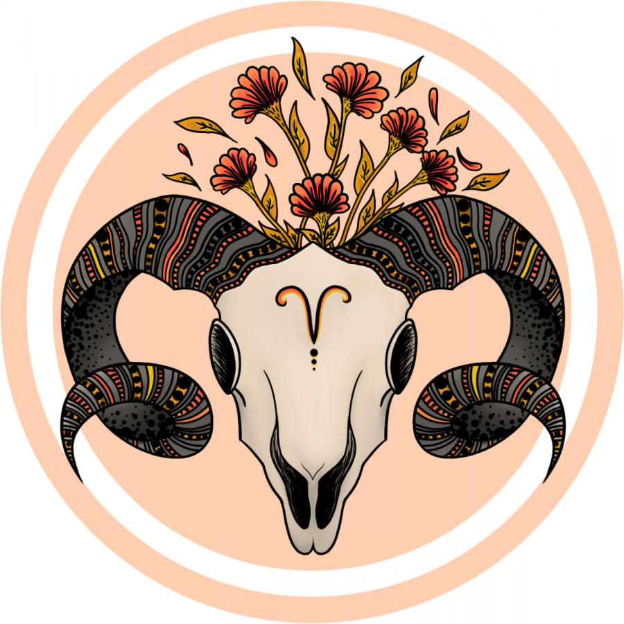 This piece of art was inspired by a poem inspired by Nilsen's zodiac sign, aries.