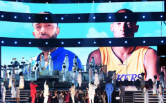 Images of the late Kobe Bryant and late Nipsey Hussle, who won two posthumous Grammys, were projected onstage during the 62nd Annual Grammy Awards at the Staples Center on January 26, 2020, in Los Angeles, California.