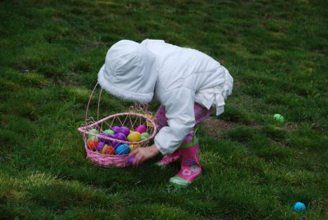 A young girl participates in an Easter egg hunt. Easter is one of the many upcoming holidays that WJ sudents will be celebrating.