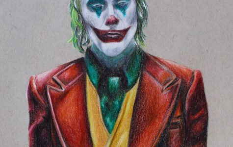 For this Joker portrait, a blend of colors were smoothly incorporated. In contrast to her pencil sketch, Phamm explained,