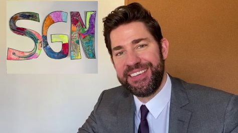 Actor John Krasinski delivers Some Good News