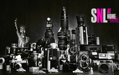 One of the seven bumper photos produced for this SNL At Home episode, depicting the skyline of New York City made from various different cameras and other photographic equipment. The second episode produced from home, it greatly improved upon the first, providing another high-quality episode for the viewers at home.