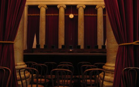 The Supreme Court is left empty and desolate. It has been closed to the public due to health concerns.