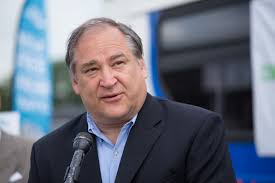 County Executive Marc Elrich steps up to the microphone. Elrich delivered the details of Montgomery County
