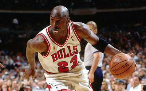 "Michael Jordan drives to the basket in another pivotal game in his remarkable career. ""The Last Dance"" gave fans an inside look at the legendary Bulls dynasty."