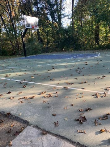 Many high school basketball players in the area have been playing at their local parks outside.