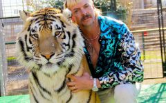 Joe Exotic, one of the stars of Netflix's Tiger King pictured with a tiger. Tiger King a popular tv show released during quarantine.