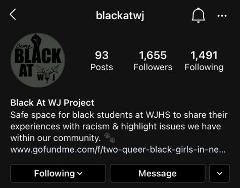 The page @blackatwj is amassing a huge following on Instagram. The page has also caused many conversations among WJ students.