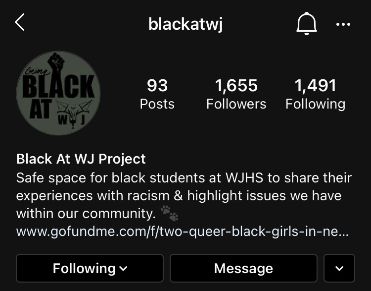 The+page+%40blackatwj+is+amassing+a+huge+following+on+Instagram.+The+page+has+also+caused+many+conversations+among+WJ+students.+