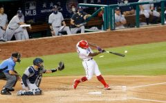 Washington Nationals infielder Howie Kendrick splinters his bat as he makes contact with the baseball against the New York Yankees on Opening Day. Despite a Hollywood ending in 2019, the Nationals were unable to capitalize on the success of being the reigning World Series Champions.