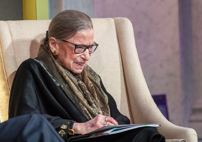 Ruth Bader Ginsburg discussing her career at the Library of Congress in January, 2020. Ginsburg was a trailblazer who paved the way for women all over the country.